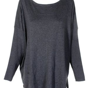 Style & Co. Charcoal Heather Seam Tunic Sz XL